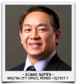 RICHARD NGUYEN IS CURRENTLY SERVING HIS FIRST TERM