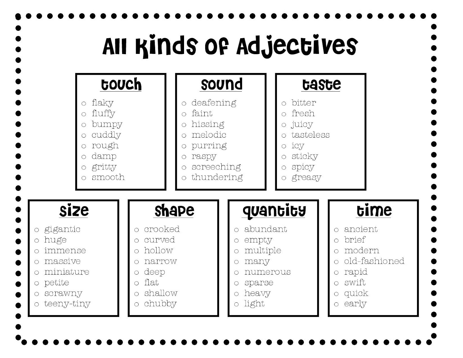 ... grammar worksheets moreover adjective worksheets. | Just another