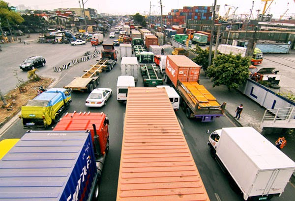 Trucks in Manila Port