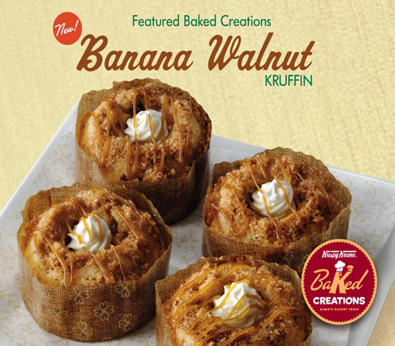 Krispy Kreme's BANANA WALNUT KRUFFIN