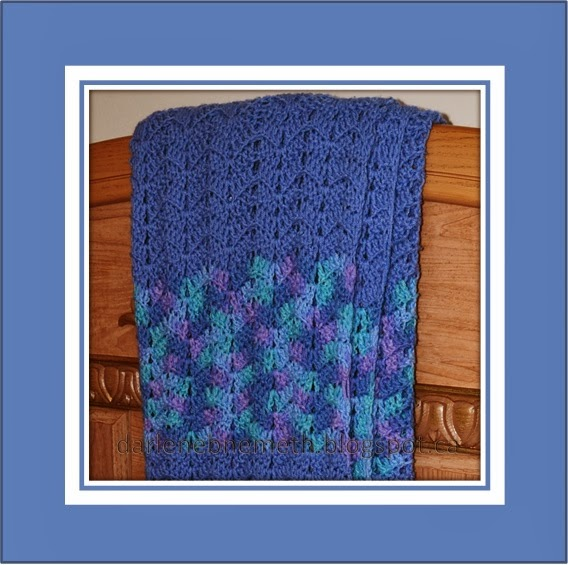 Easy Crochet Pattern for Cozy Blue Blanket
