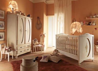 cuarto de bebé color tierra