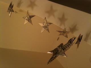 Five Point Origami Star Garland