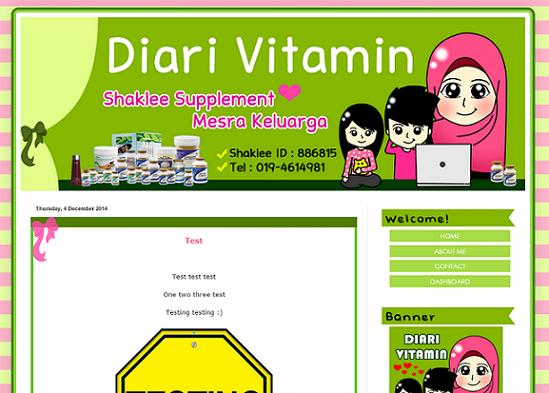 Tempahan : Blog Diari Vitamin