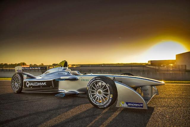 A Formula E racing car