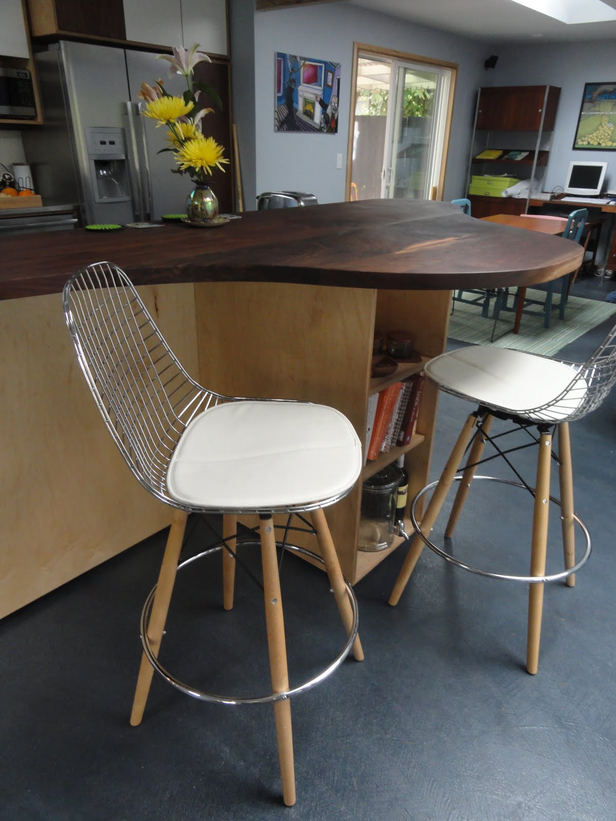 Modernica Bar Stools: Eames Wire Chair