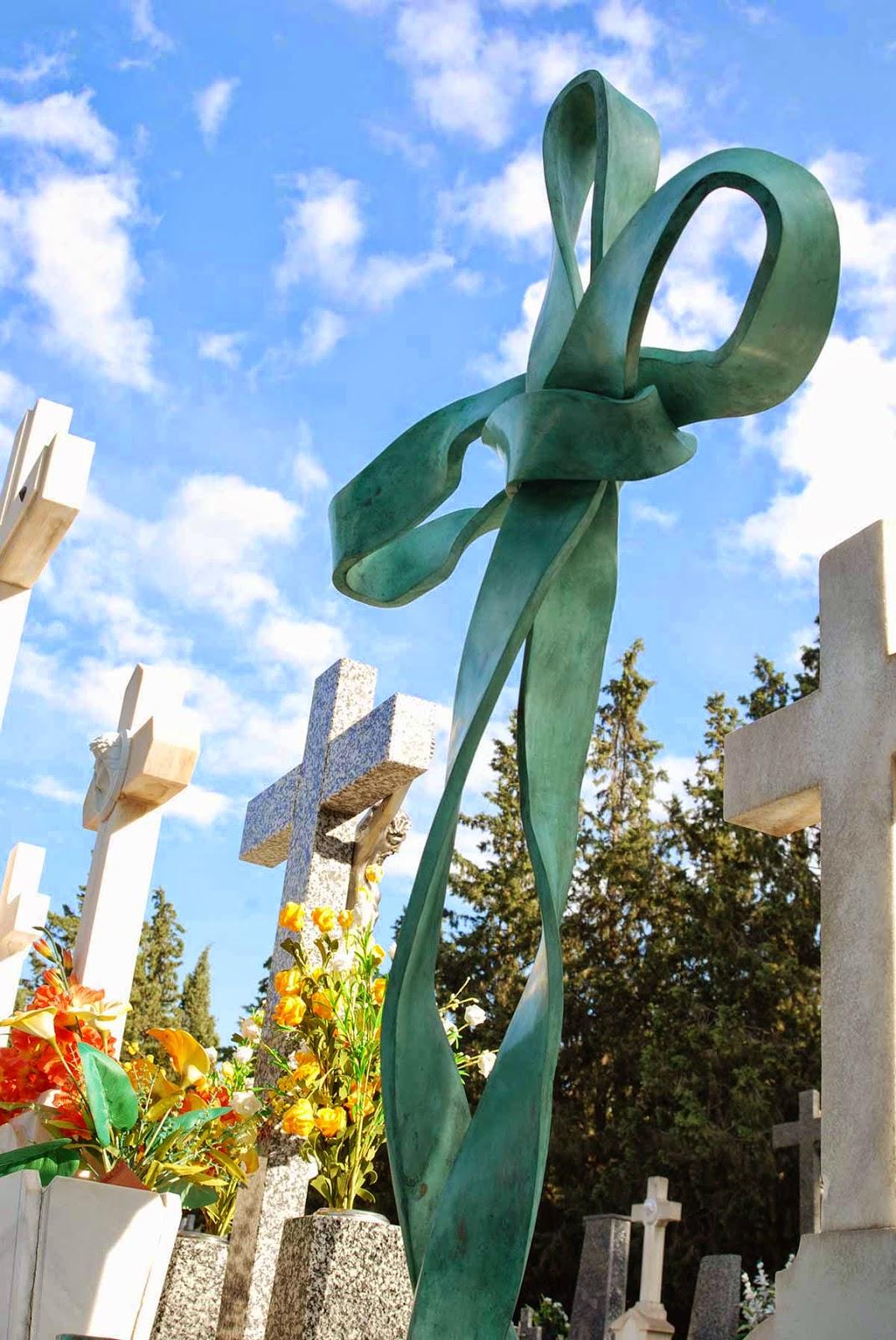 Monumento bronce cementerio Murcia Arturo Serra escultura 11