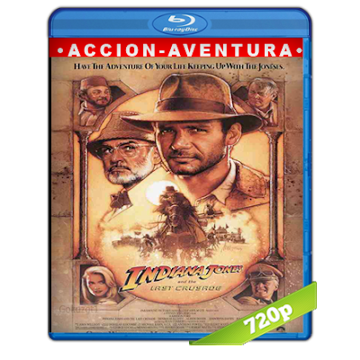 Indiana Jones 3 (1989) BRRip 720p Audio Trial Latino-Castellano-Ingles 5.1