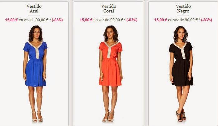 Vestido azul, rojo o negro de Goa al mejor precio