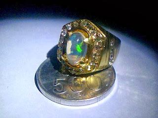 Batu Cincin Kalimaya  Banten Crystal Ring Perak