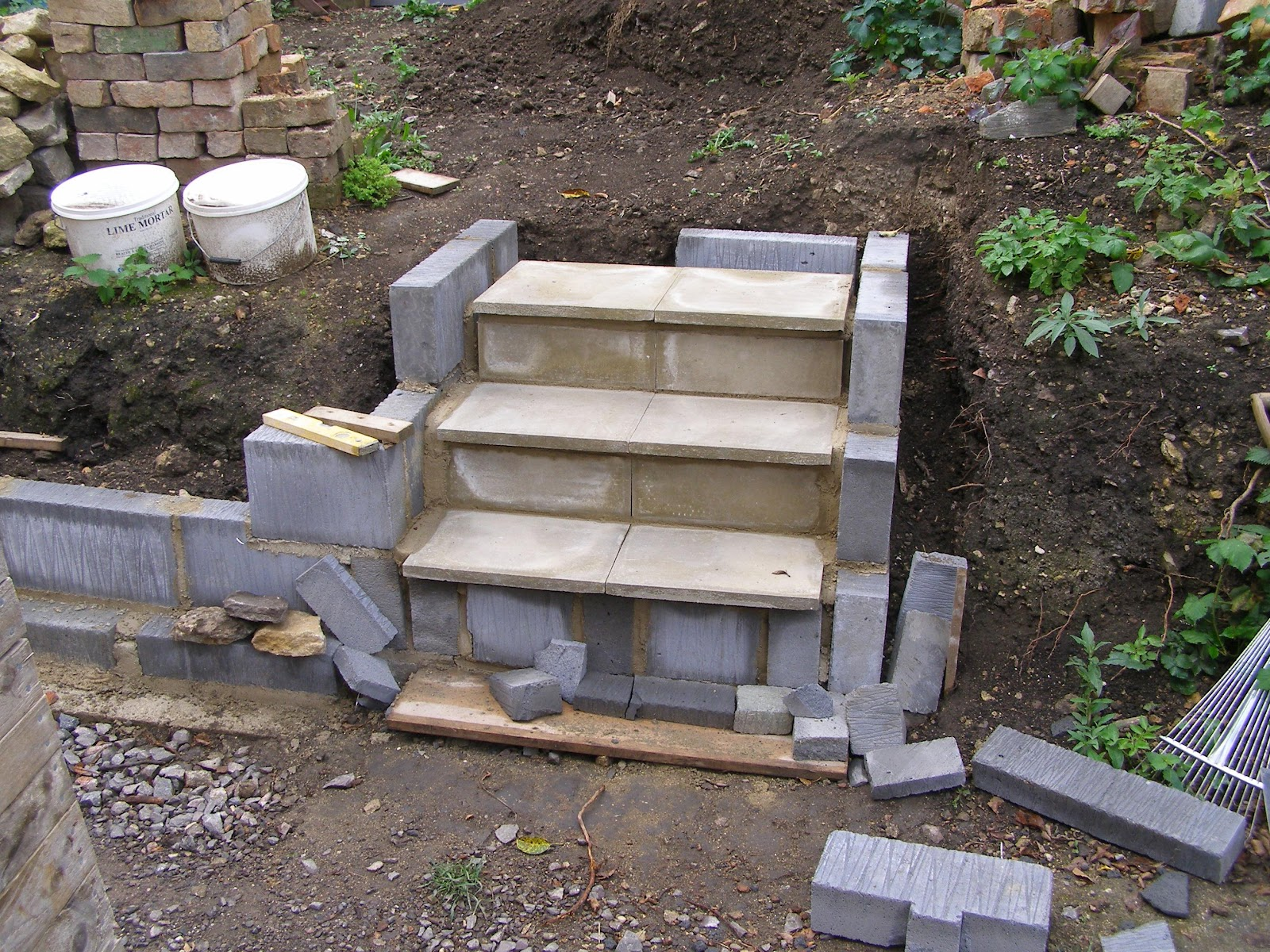 how to make garden stairs less steep