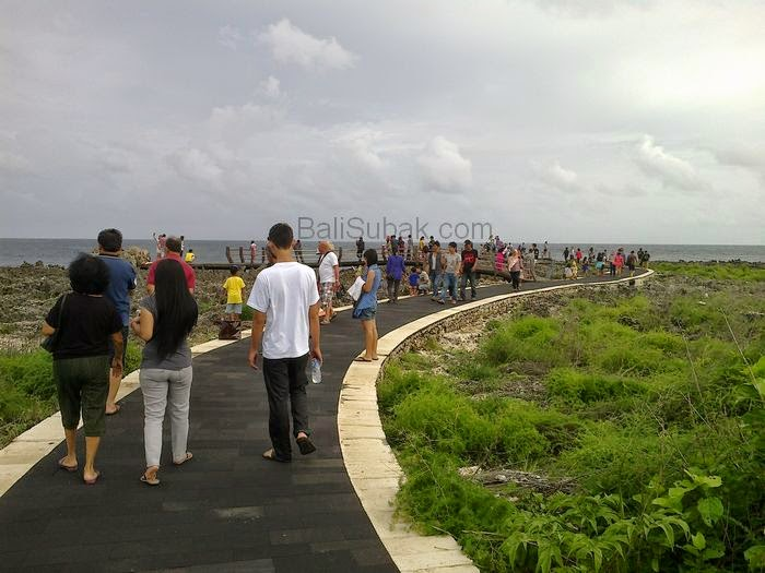 Attraction of Water Blow at Nusa Dua Beach, Bali Indonesia