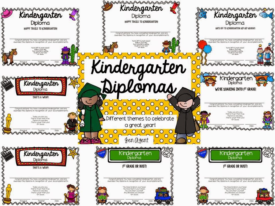 https://www.teacherspayteachers.com/Product/Kindergarten-Diplomas-1817829