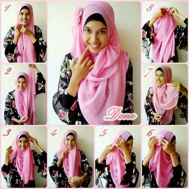 how to wear modern hijab step by step