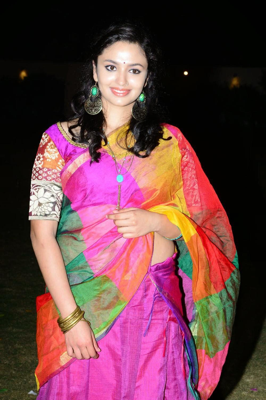 Actress Malavika Nair Latest Cute Hot Transparent Saree Navel Show Spicy Photos Gallery At Yevade Subramanyam Movie Audio Launch