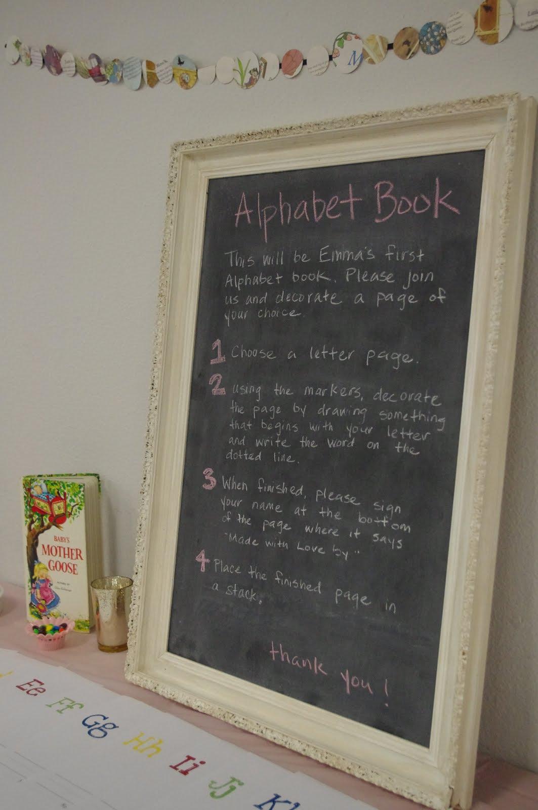 Alphabet Book Baby Shower Dessert Bar Ideas For Baby Shower
