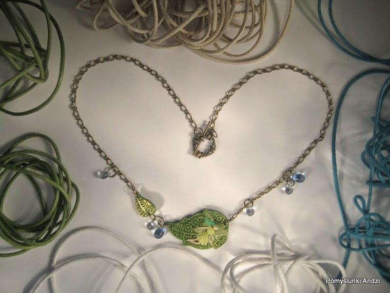 polymer clay, fairy, premo, fimo, pendant, tiny fairy, wróżka, wisiorek,