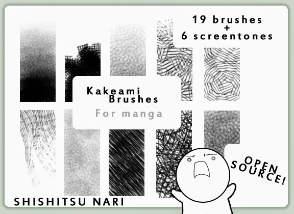 http://n-a-r-i.deviantart.com/art/Kakeami-Brushes-for-Manga-136376548