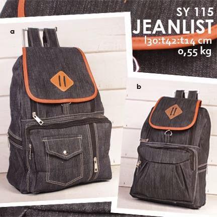 jual online tas ransel murah bahan jeans model terbaru