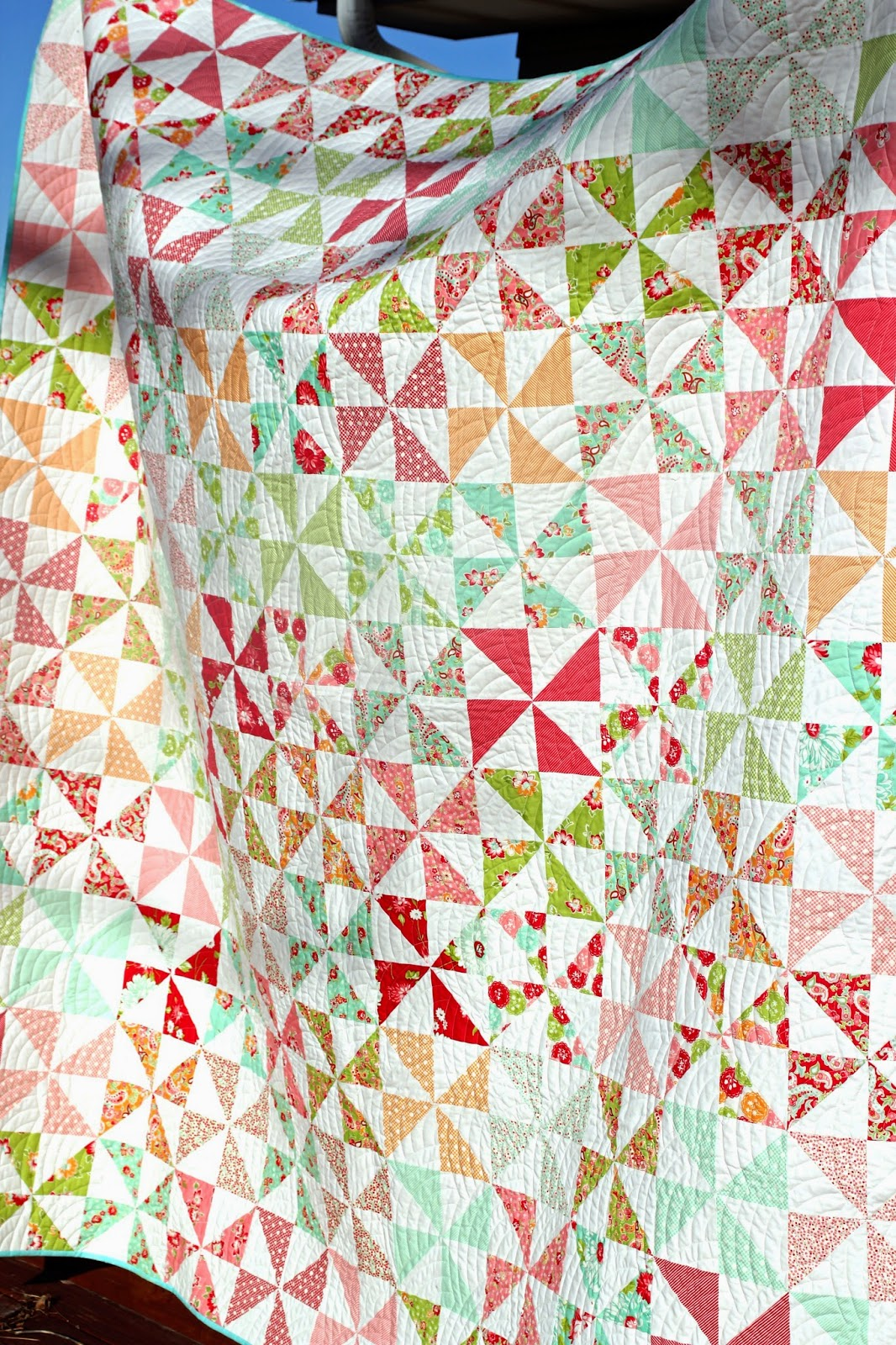 Quilt Pattern For Pinwheels : Girls in the Garden: Pinwheel Quilt