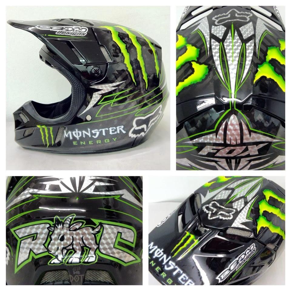 Racing Helmets Garage: Fox V4 R.Carmichael 2013 by BEAMdesigns