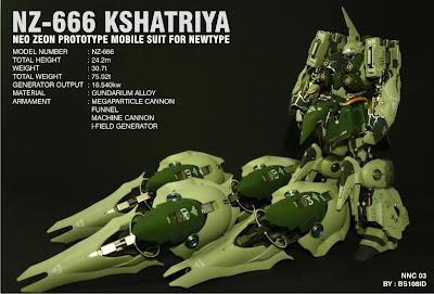 HGUC 1/144 NZ-666 Kshatriya