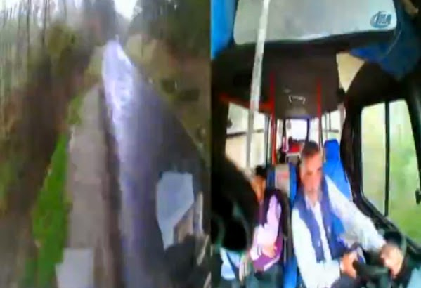 VIDEO – Accidente autobús escolar grabado desde adentro