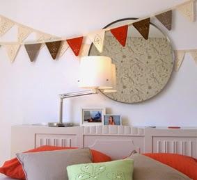 bunting flags, party, decoration, kids room, diy, faça você mesma