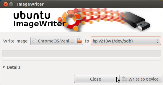 How to write image file on USB pendrive