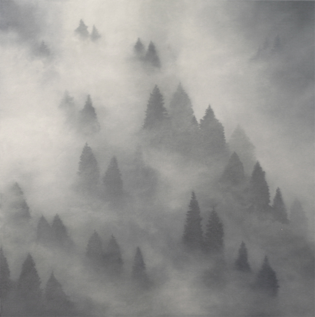 Dry Fog Painting : Dawn waters baker oil paintings in grey quot mountain fog