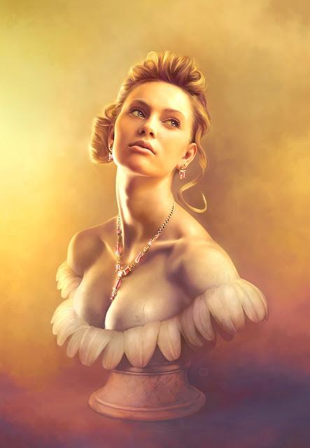 digital art girl,5 stars,micheal oswald