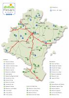 Mapa de la Ruta de los Paisajes en Navarra