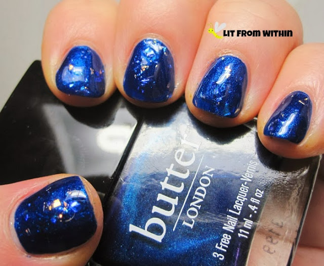 'blue opal' topcoat