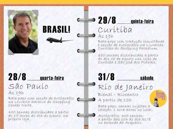 Agenda do Nicholas Sparks no Brasil