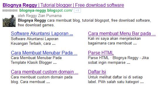 Cara mudah mendapatkan Google Sitelinks