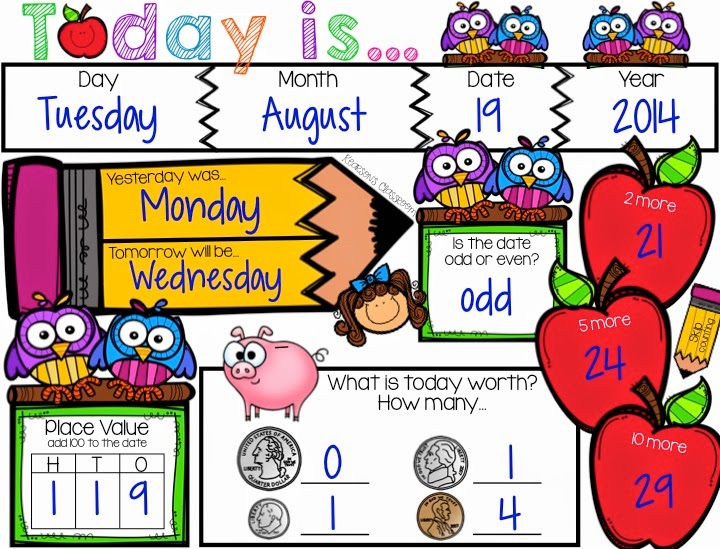 Calendar Math Activity Board for Classroom at Lakeshore Learning