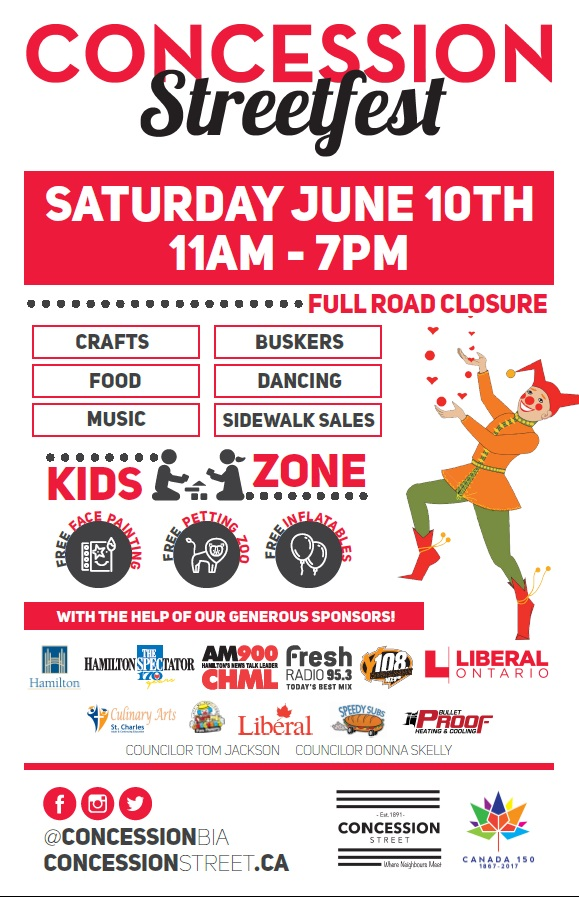 Concession Streetfest in Hamilton (HBL will be MCing the Main Stage!