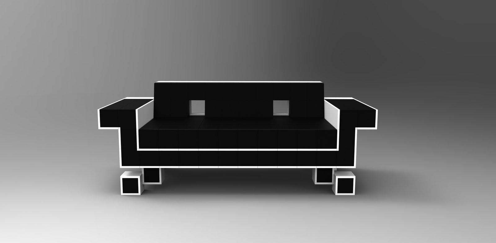 fruitless pursuits 8 bit furniture invades your living space. Black Bedroom Furniture Sets. Home Design Ideas