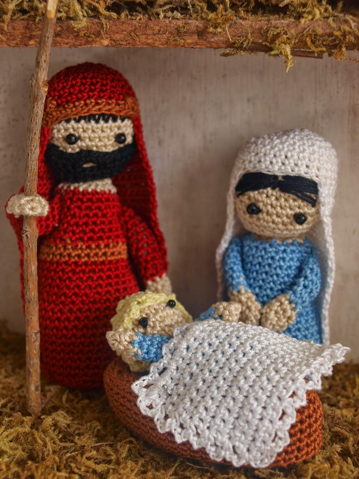 By clara crochet nacimiento a ganchillo Adornos a ganchillo
