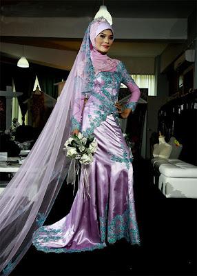 baju pengantin muslim 8 Model Baju pengantin muslim