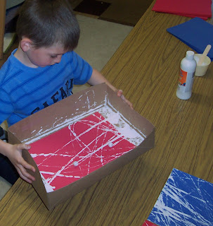 photo of: Marble Painting in Kindergarten for Art Project