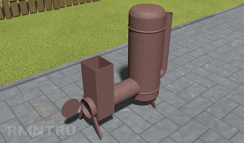 Ракетная печь из газового баллона своими руками чертежи