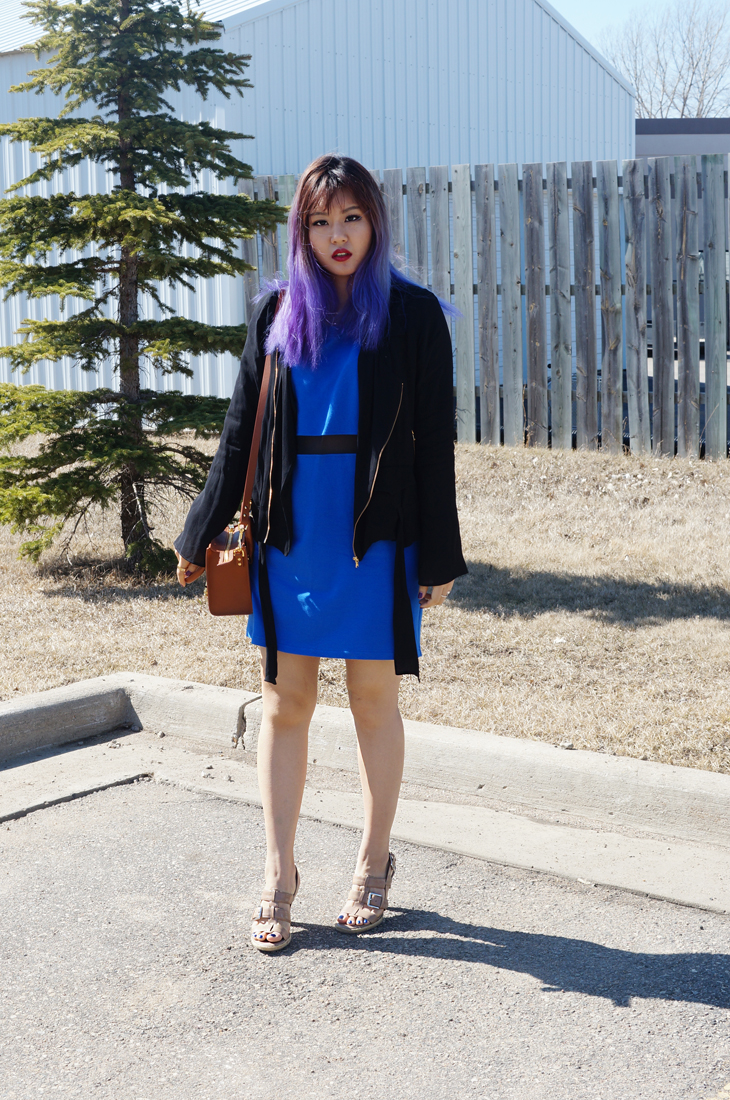 Blue Sheer Dress and Sophie Hulme