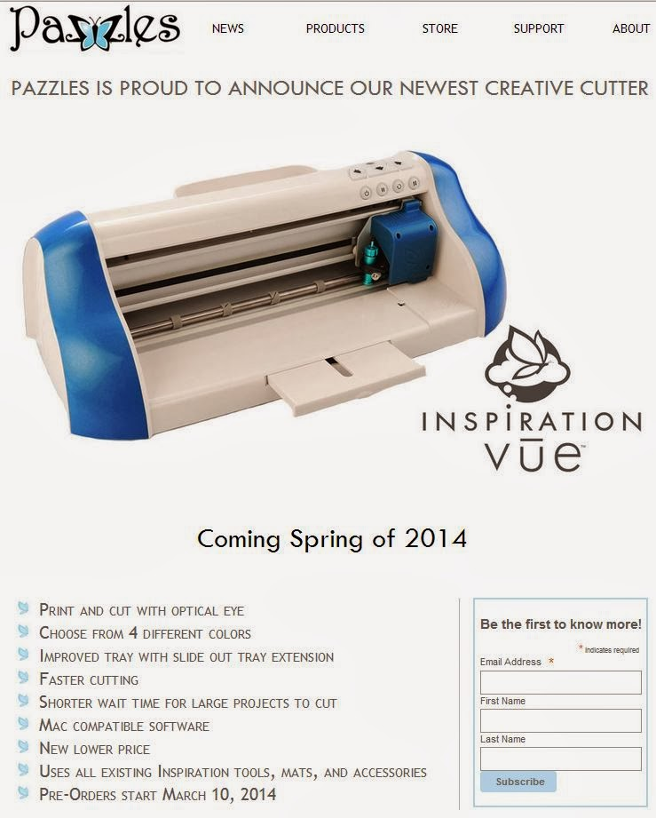Inspiration Vue™ Die Cutting Machine, Optical Eye, Print & Cut