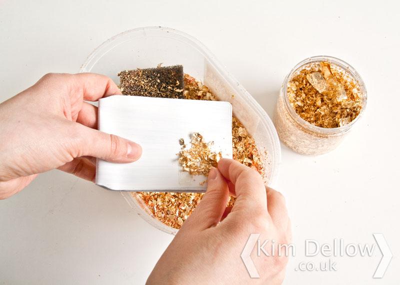 Adding Gilding Flakes