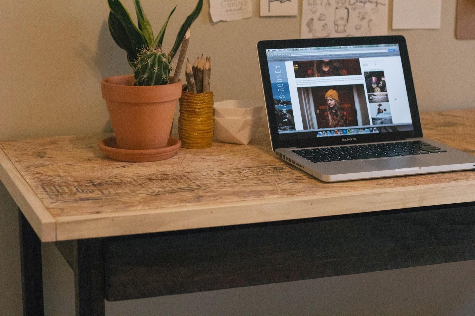 always rooney how i made my work desk. Black Bedroom Furniture Sets. Home Design Ideas