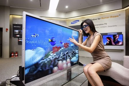 55 inch LED 3D television