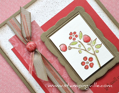 Stampin' Up! Greeting Card Idea - Get Well Soon