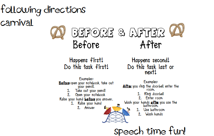 Following Directions Carnival – Following Directions Worksheet Trick
