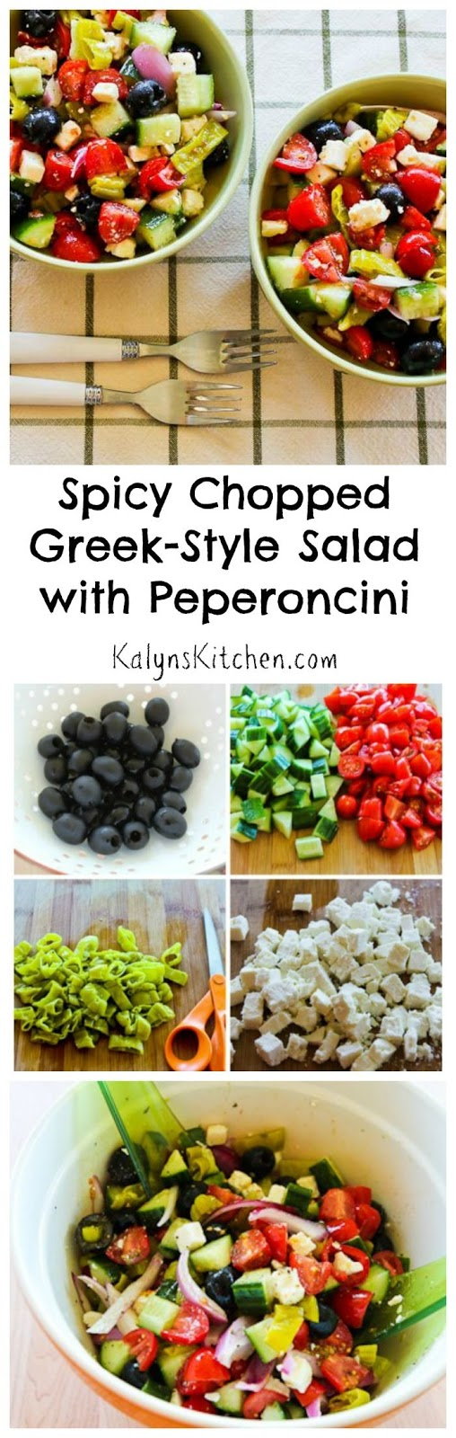 Chopped Greek-Style Salad With Red, Yellow, And Orange Bell Pepper ...